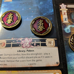 Custom Token - Void's Embrace Phoenix Coin - Special Edition - Unofficial L5R LCG Luxury Fate Token