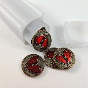 Custom Token - Wounded Heart Luxury Tokens - Unofficial Metal Tokens Compatible With Arkham Horror LCG