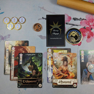 Custom Tokens - Luxury Honored/Dishonored Metal Tokens - Unofficial L5R LCG Dual-sided Tokens