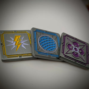 Starship Elite Playsets - Metal Shield, Charge, and Force Tokens