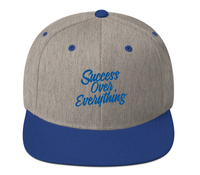Success Snapback-Royal Blue/Gray - shopsoeclothing