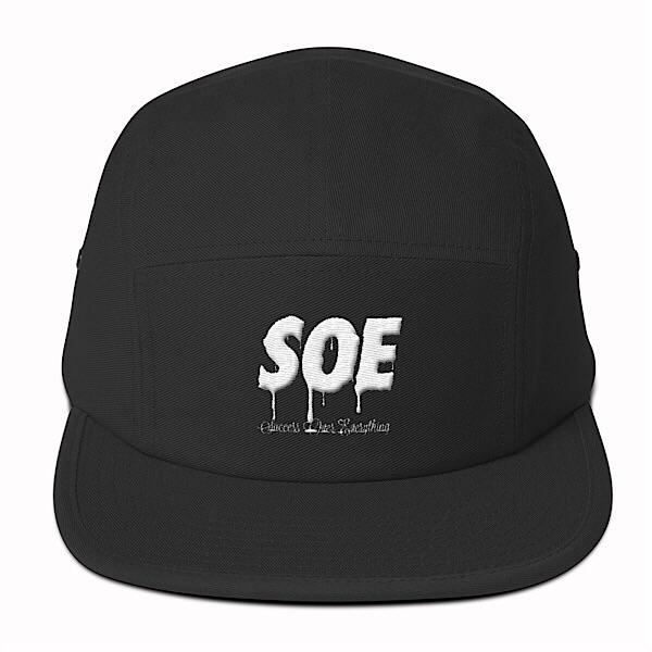 Soe Tech 5 Panel Hat-Black