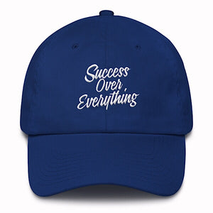 Vintage Success Dad Hat-Royal Blue