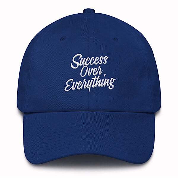 Vintage Success Dad Hat-Royal Blue - shopsoeclothing