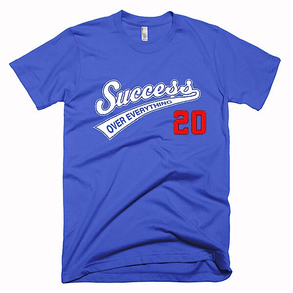 Success Baseball Tee-Blue