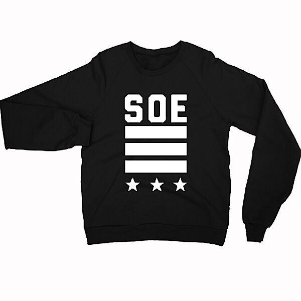 Soe Star Striped Crew Neck