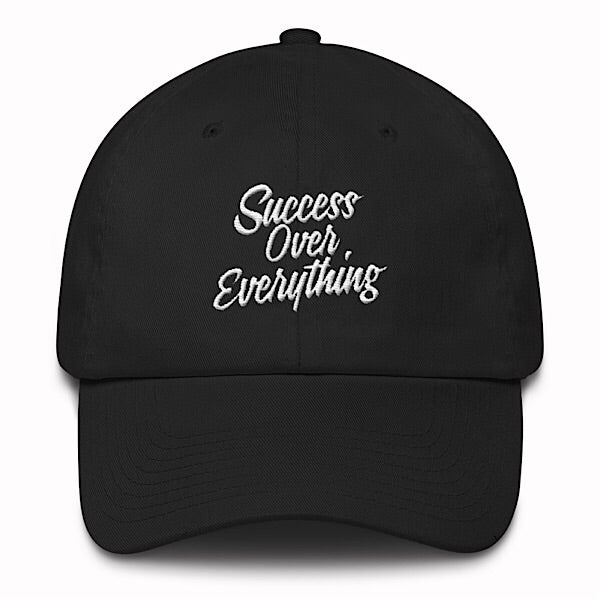 Vintage Success Dad Hat-Black - shopsoeclothing