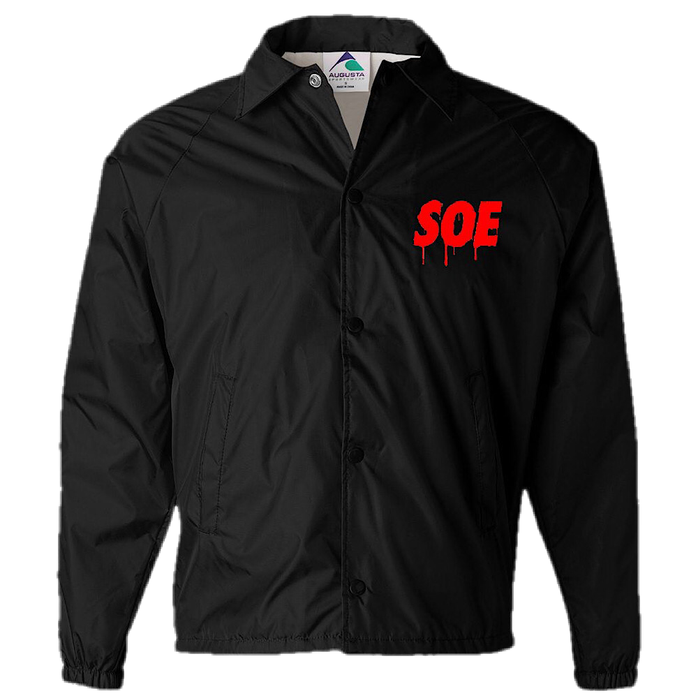 SOE Dripping Signature Jacket-Black/Red