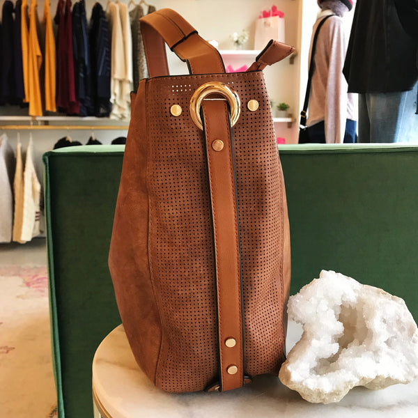 Brown Vegan Leather 2 in 1 Bag