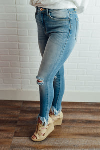 Light Denim with Frayed Hem