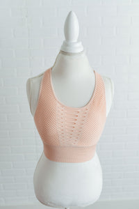 Blush Cutout Bra