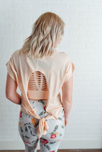 Blush Top with Open Tie Back
