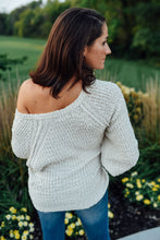 Ivory Uneven Hem Fuzzy Sweater
