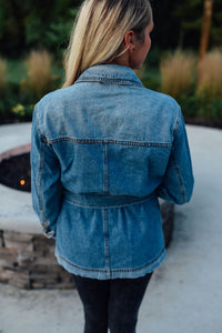 Denim Tie Waist Jacket