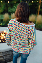 Multi Color Stripe Sweatshirt