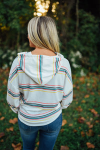 Multi Color Striped Hoodie