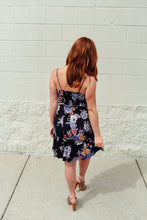 Black and Purple Floral Dress