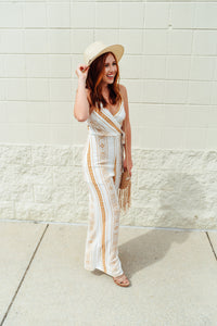 Mustard and Ivory Printed Jumpsuit