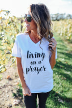 White Living On A Prayer Tee