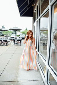 Multi Color Stripe Dress