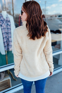 Taupe Fuzzy Pullover