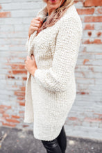 Cream Popcorn Long Cardigan