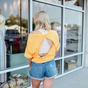 Orange Open Back Tee