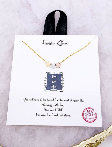 Multi-Colored Family Star Gift Necklace