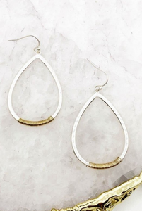 Silver Wrapped Teardrop Earrings