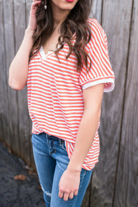 Striped Take Me Tee
