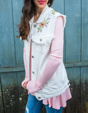 White Embroidered Vest