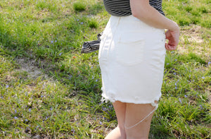 White Stacy Mini Skirt