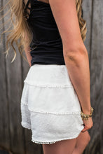 White Layered Dainty Shorts