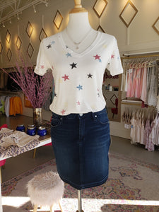 White Star V-neck Tee