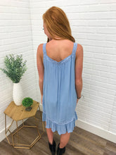 Lt. Blue Crochet Tank Tunic