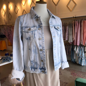 Light Stone-wash Denim Jacket