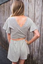 H. Grey Striped Romper