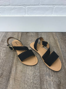 Black Perforated Sandal