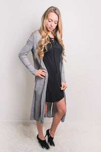 H. Grey Textured Cardigan