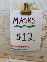 Assorted fabric face masks