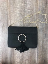 Black Natural Woven Clutch