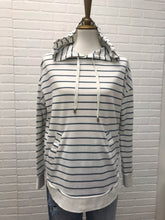 Z Supply White Striped Hoodie