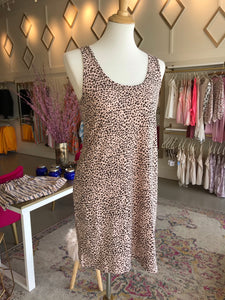 Pink Mini Leopard Tank Dress