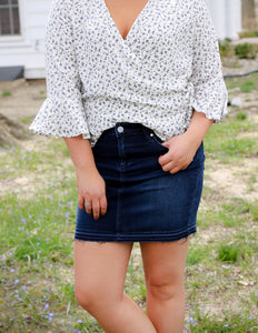 Blue Denim Stacy Mini Skirt