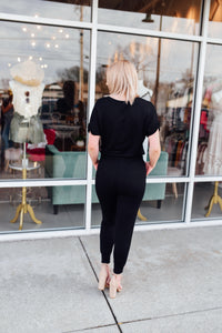 Black Wrap Front Jumpsuit