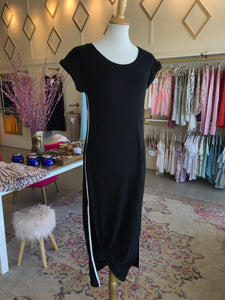 Black Side Strip Dress