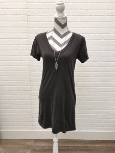 Graphite Organic T Shirt Dress