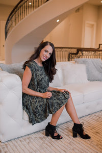 Hunter Green Camo Dress