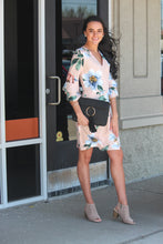 Blush Midi Floral Bell Sleeve Dress