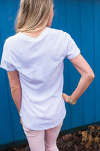 White V Cut Out Tee